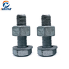 ASTM A394 Carbon Steel / stainless steel ss304/316 Hot DIP Galvanized HDG Transmission Electric Tower heavy Hex Bolt