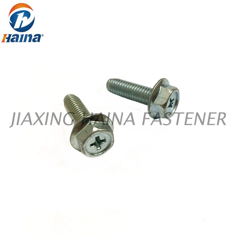 Stainless Steel 304 Cross Recessed Hexagon Flange Bolt